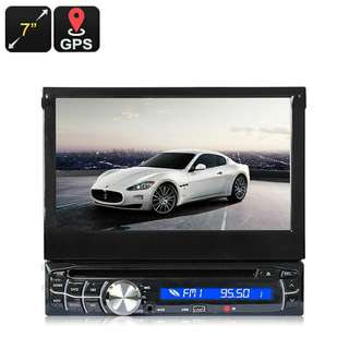 1 DIN Car Media Player - 7 Inch Touch Screen, GPS, Bluetooth, AM/FM (CVAIY-C622)