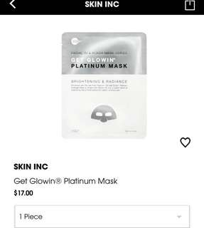 (Clear stock -50%) Skininc Get Glow Mask