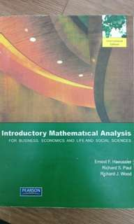 INTRODUCTORY MATHEMATICAL ANALYSIS international edition