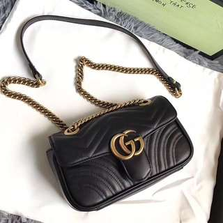 Gucci mini Marmont quilted leather bag,22cm