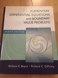 Elementary Differential Equations & Boundary Value Problems + Solution Manual