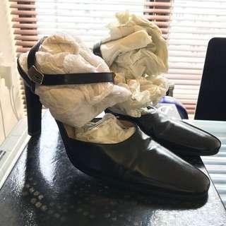 Gucci 真皮黑色高跟鞋👠,著過2次,90%新,有塵袋