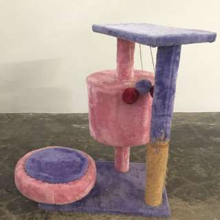 CAT TREE, PINK AND PURPLE