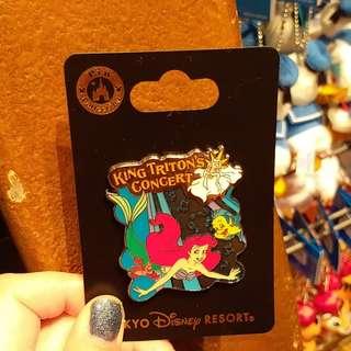 東京迪士尼小魚仙徽章Disney pin