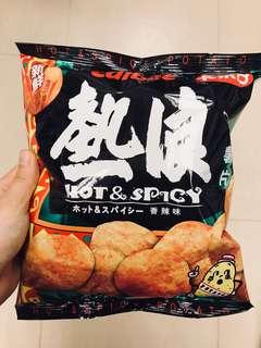 卡樂B /calbee熱浪薯片香辣味55g/包