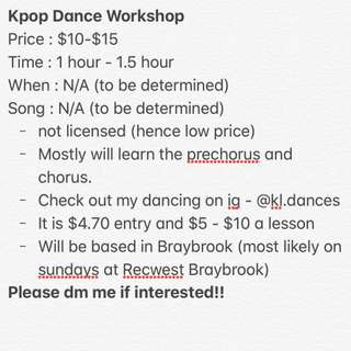 Kpop dance workshop / lesson