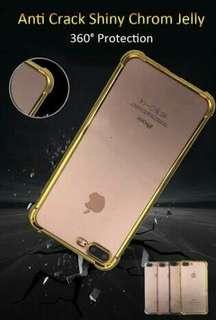 Iphone5 Casing Shinning Chrome Warna Anti Crack Cover Case
