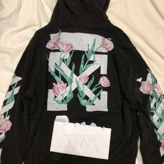 Off white tulips hoodie