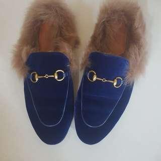 Gucci名牌毛毛鞋39號