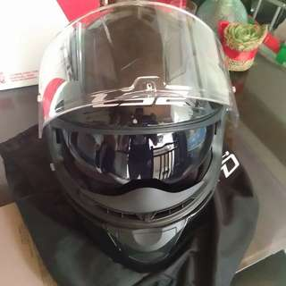 LS2 Original Black Helmet