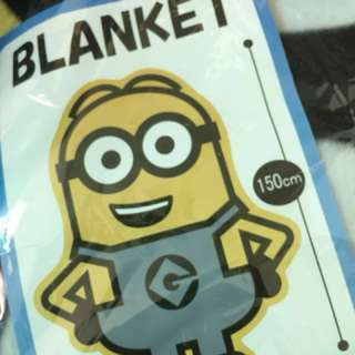 全新日本🇯🇵景品 Die Cut Minion Blanket