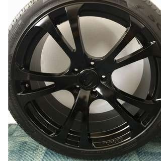 TechArt 22-inch forged alloy rims