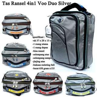 Tas Kantor Ransel 4in1 Voo Duo Silver