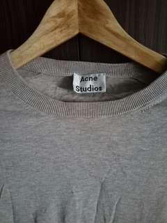 Acne Studios Grey Cropped Top