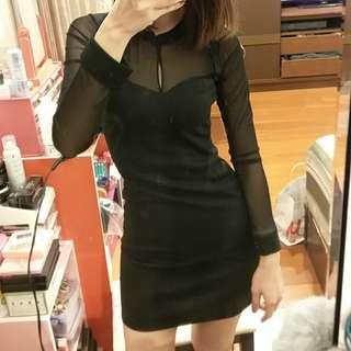 透膚微性感合身洋裝