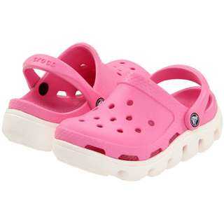 Crocs Duet Sports Clog (PINK) Shoes 100% Genuine - size J1 20 in stock