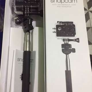 Snapcam with Waterproof Case & Monopod