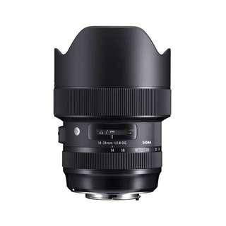 Sigma 14-24 f/2.8 DG HSM ( Canon-EF, Nikon-F Mount)