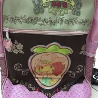 Country girl trolling school bag