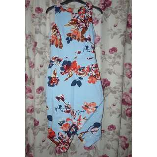 Cue size 8 floral dress cotton fabric