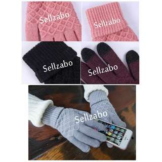 Touch Screen HP Knitted Warming Cold Hands Gloves Sellzabo #Z (-5 To 10 Degree) Winter Warmth Unisex