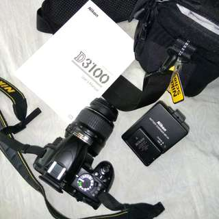 Nikon D3100 slr complete set (negotiable)