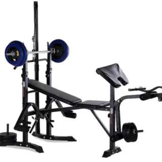 Bench Press Multi-function Weight (7in1) BAR AND weight plates not included