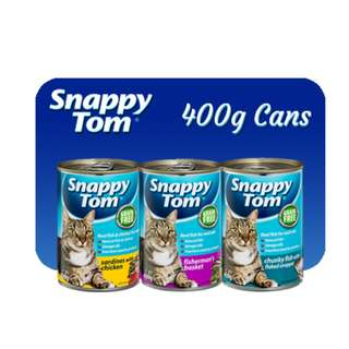Snappy Tom 400g Can Food