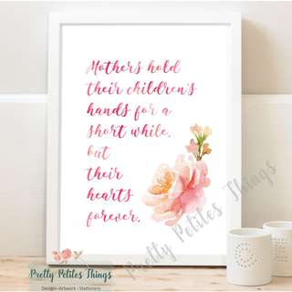 Mother's Day Gift - Watercolour Wall Art