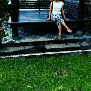 Batik culotte parang black