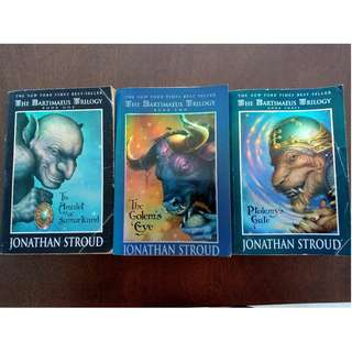 The Bartimaeus Trilogy by Jonathan Stroud - The Amulet of Samarkand, The Golem's Eye, Ptolemy's Gate