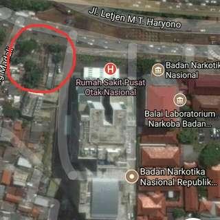 *Dijual Lahan di Cawang MT.  Haryono samping BNN dan RS.Otak*