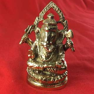 Ganesha Ganesh Statue Hindu God Brass Om Blessed Worship Success Prosper Lucky