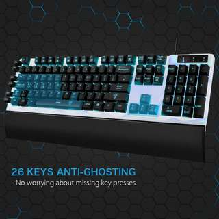 (BN) EASTERNTIMES TECH LED Backlit Programmable Mechanical Feel Gaming Keyboard (Brand New)