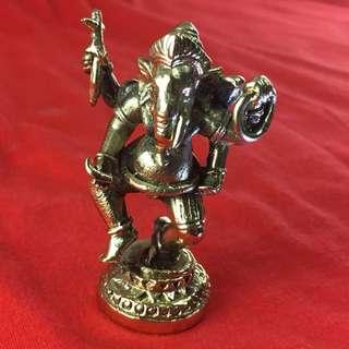 "Ganesh Ganesha Statue Hindu God Elephant Brass Om Aum Sacred Blessed Lucky 2.5"""