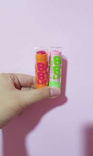 Maybelline tinted lip balms