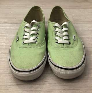 Vans Authentic (Light Green, US W 9 / US M 7.5)