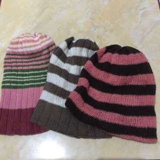 #MakinTebel Preloved Beanie anak 3pcs