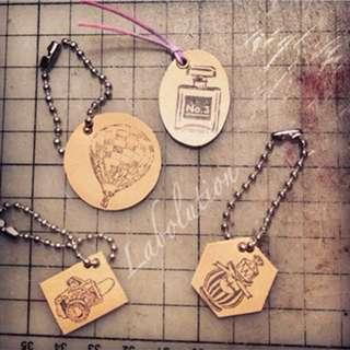 全手工製作-小小皮革吊牌匙扣