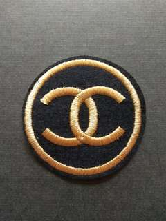 Double C Logo Brand Iron On Patch