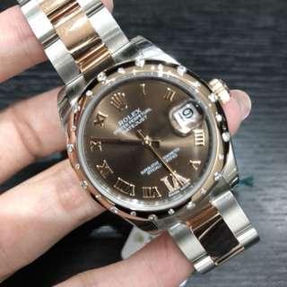 全新Rolex 178341 choco 女裝日誌型