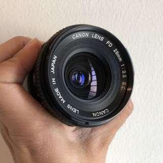 Canon FD 35mm f2.8 sc