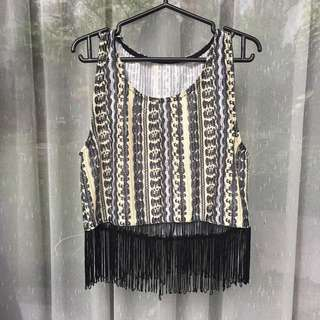Summer Tribal Fringe Tank Top