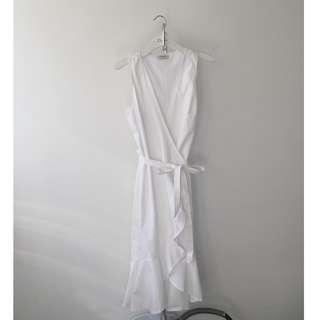 Babaton poplin wrap dress