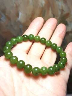 Premium 8mm Canadian Jade (Nephrite) bracelet [Natural crystal]