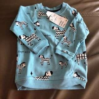 H&M blue full sleeves 6-9months