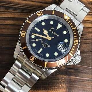 Squale 20 ATMOS Heritage 1545 MK2 40mm Under Warranty Diver Watch