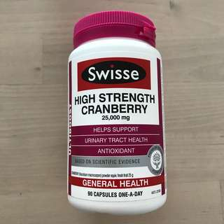 Brand new unopened - SWISSE high strength cranberry 25,000mg supplement (not young living, nuskin)