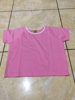 #MakinTebel Preloved Kaos Polos Pink