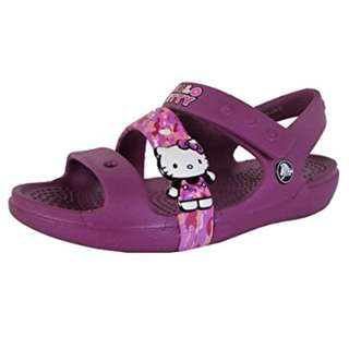 Crocs Girls Keeley Hello Kitty Camo Sandal Shoes